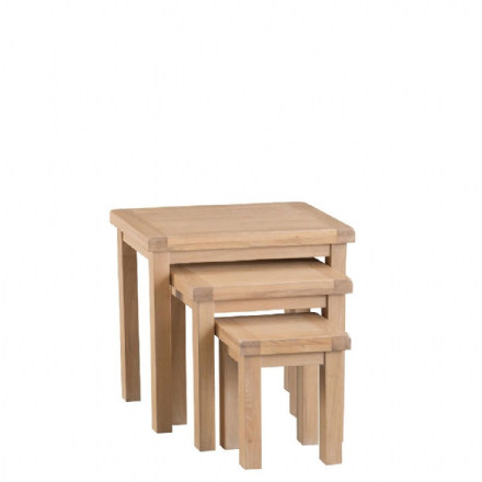 Malmo Oak Nest of 3 Tables